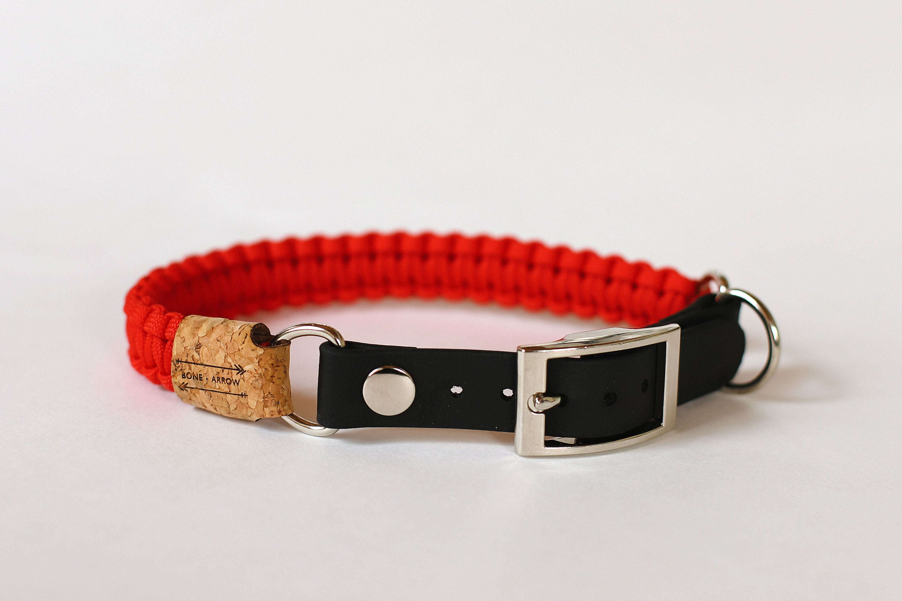 Adjustable Red Paracord Collar
