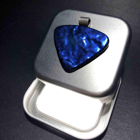 Blue Pendant as Guitar Plectrum