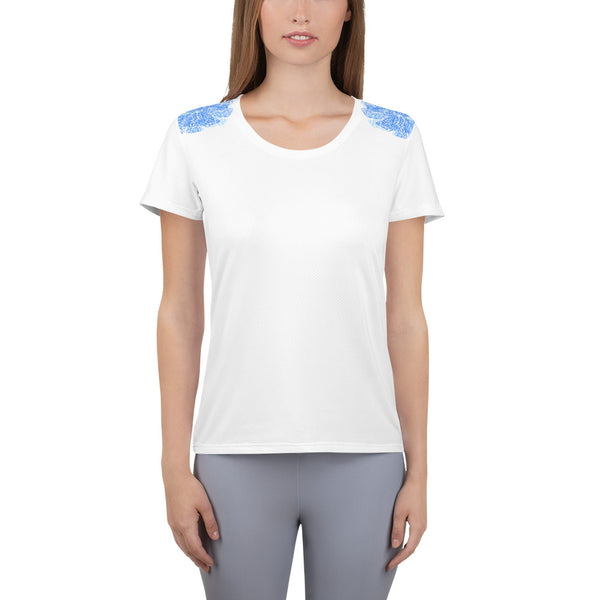 Waves, Women's Athletic T-shirt