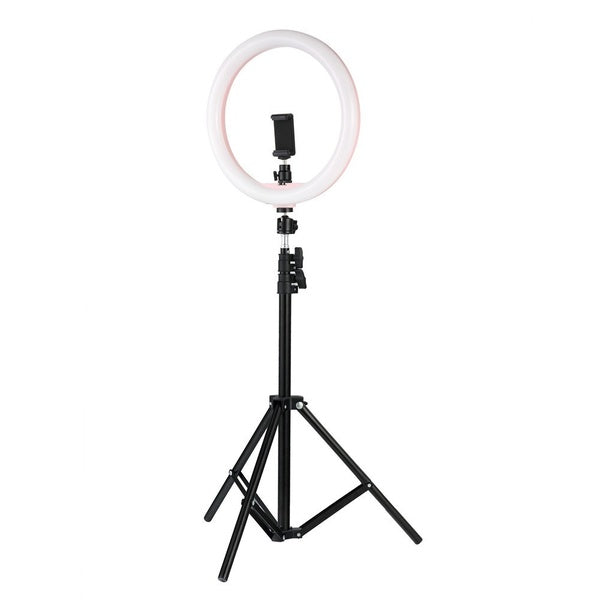 26CM LED Ring Light 5500K 24W Photo Studio Light Photography Live Stream/Makeup with 1.1M Tripod Phone Holder for Phone