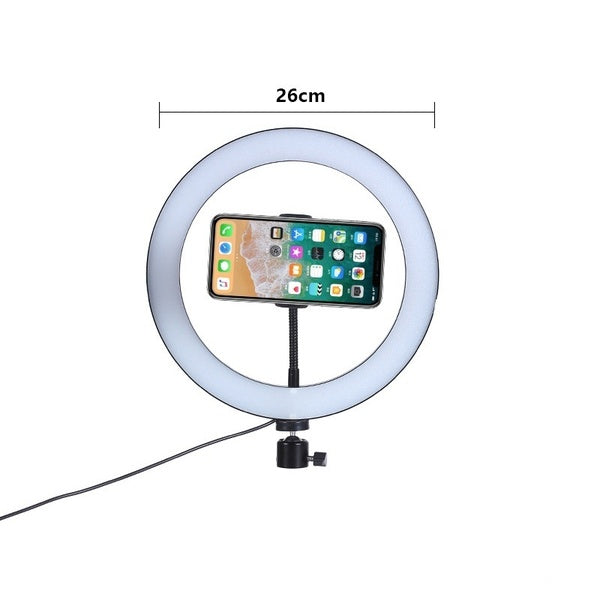 Dimmble Fill Ring Light With Triopd and Phone Clip For Live Streaming Selfie Beauty Photography