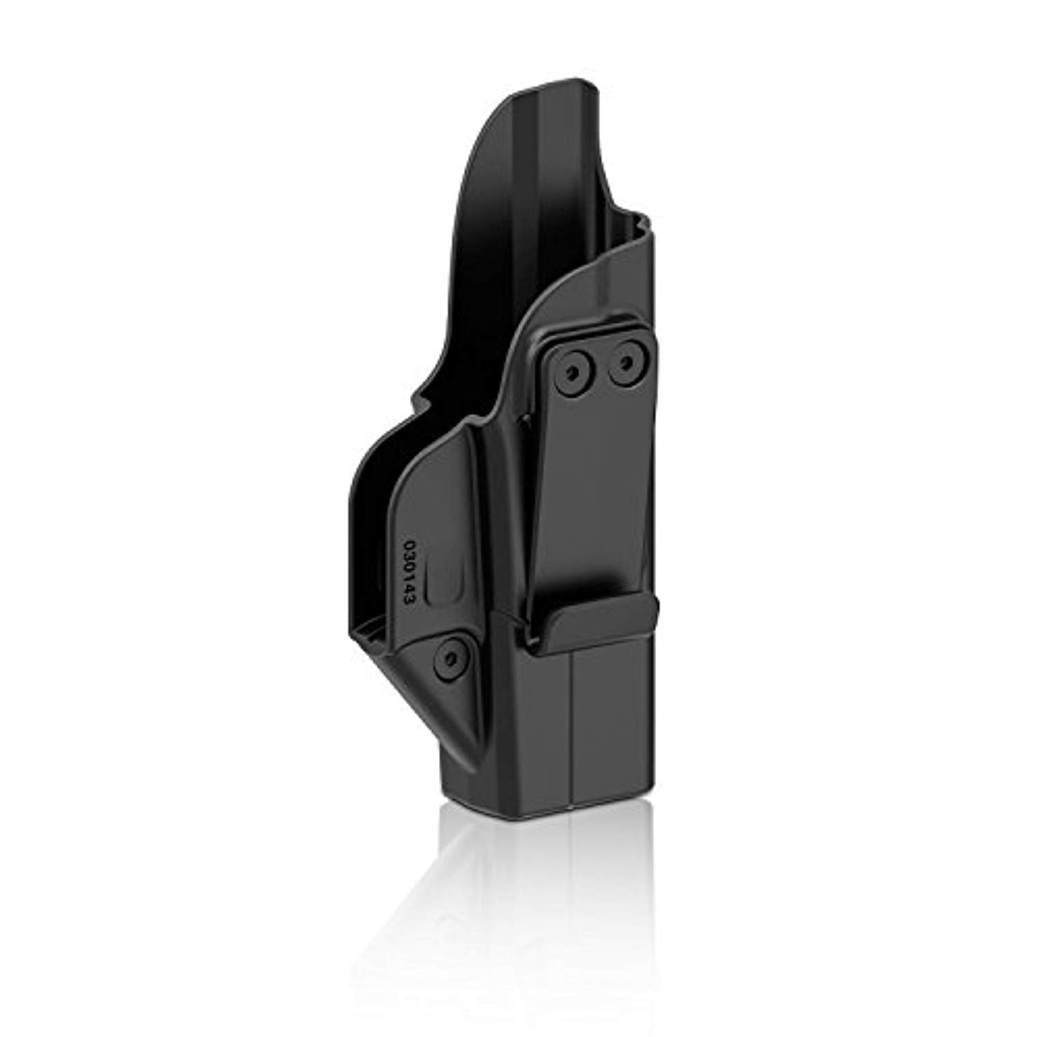 efluky Glock 43 Holster, Polymer Tactical Inside Waistband Concealed Carry Holster with Belt Clip, Adj. Retention, RH (Black)