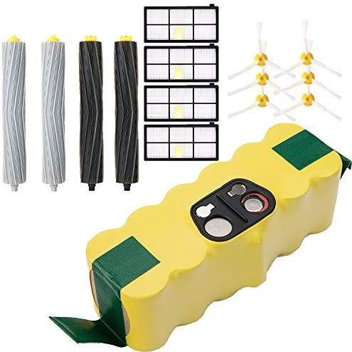 efluky Replacement Accessories Kit for Roomba 800 Series 800 805 850 860 870 880 980- Includes 4 Pack Filter, 6 Pack Side Brush, 2 Pack Bristle Brush and Flexible Beater Brush