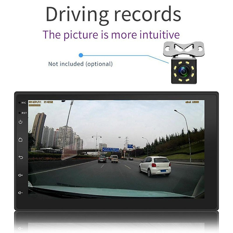 Car GPS Navigation 7 Inch Touch Screen Embedded Machine Dash Navigation Gps Android Car Navigator  HD Capacitive Touch Screen Bluetooth FM MP3/MP5 Players Vehicle Navigation