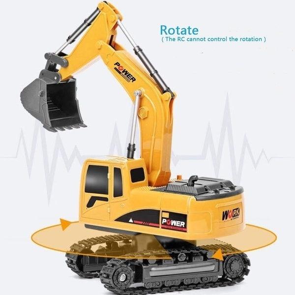 Toy Remote Control 5/6 Channel 1:24 Multifunctional RC Excavator Simulated Mini Truck Digger Kids Gift