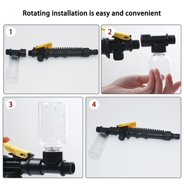 1pc 30/38/48cm High Pressure Power Washer Water Gun Spray Nozzle Car Wash Garden Cleaning Tool
