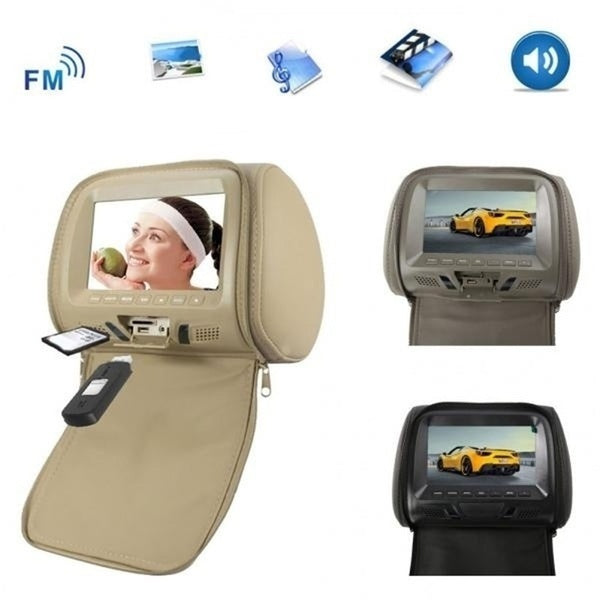 New Universal 7 Inch Car Headrest Monitor Rear Seat Entertainment Multimedia Player
