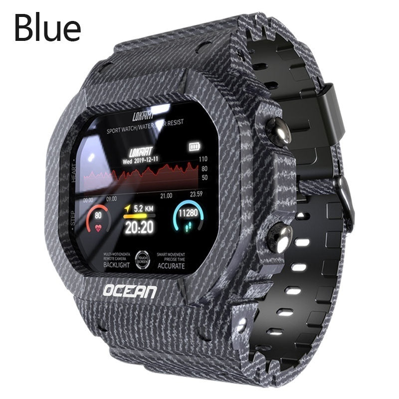 New Men Smart Watch IP68 Waterproof Heart Rate Blood Pressure Blood Oxygen Monitor Fitness Tracker Wristband Bluetooth Wristwatch Smart Band Sport Smartwatch for IOS Android