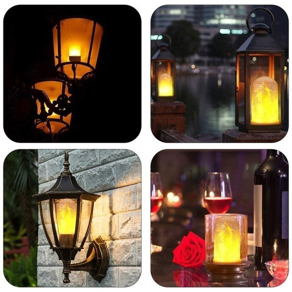 4 Modes LED Flame Effect Fire Light Corn Bulb E27 5W Simulated Nature Flicking Lamp