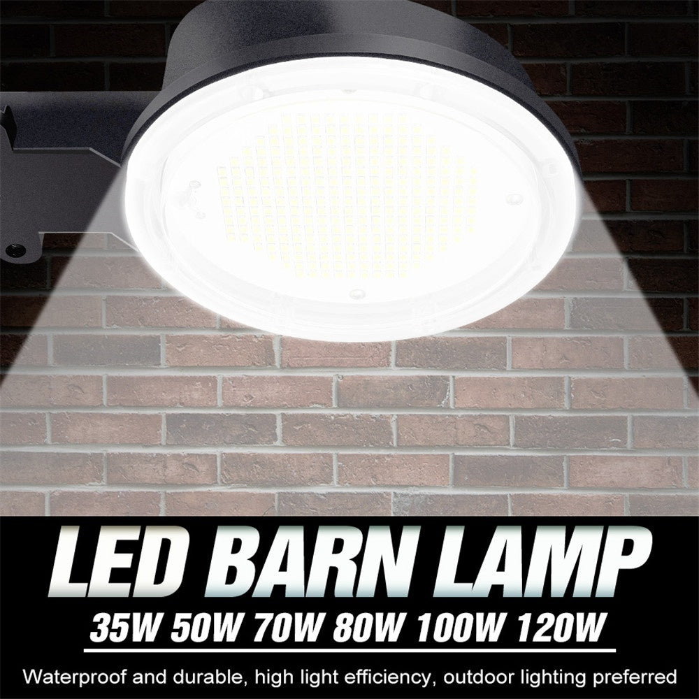 2020 New Barn Lamp LED 220V Smart Light Sensor IP65 Waterproof Garden Lamp 120W 100W 80W 70W 50W 35W Floodlights LED Industrial Lighting