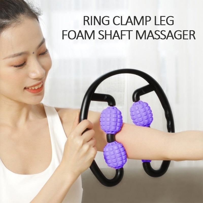 360 Degree Massager 4-Point Fitness Ball Hand Arm and Leg Roller Massage Stick Pressure Trigger Point Massage Tool Deep Tissue Muscle Relaxation Massager