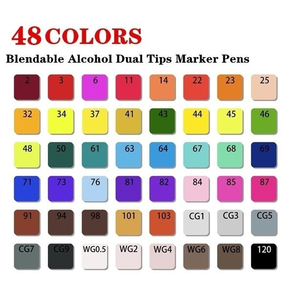 New Arrival Markers Set, 30//40//60/80 Color Copic Markers Sketch Set For Manga Design Double Head Brush Pen For School Art Supplies