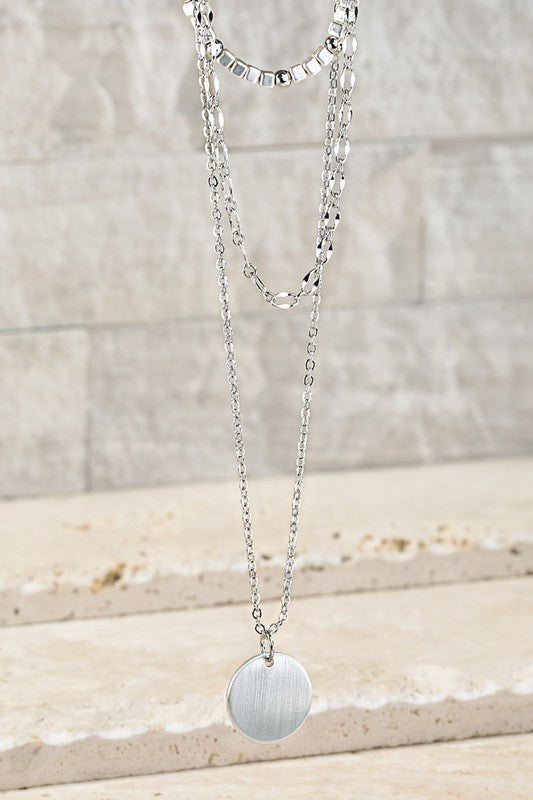 Dainty Necklace with Coin Charm