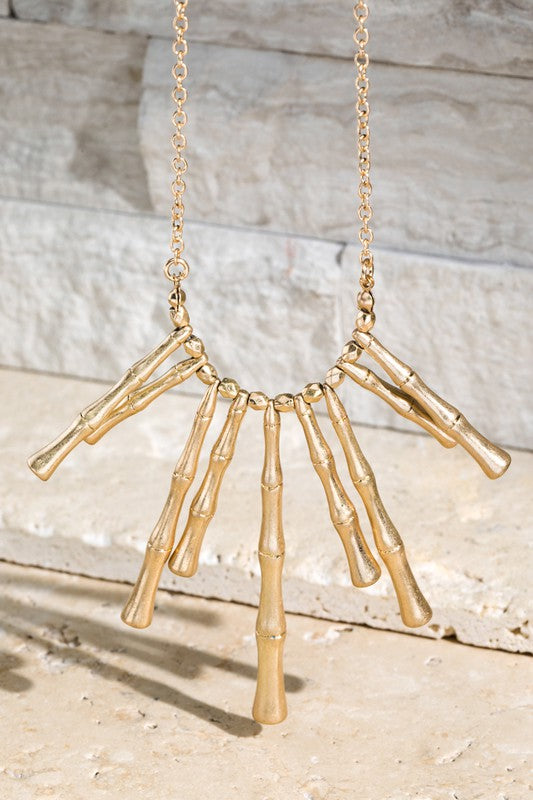 Kaylyn Bamboo Inspired Necklace