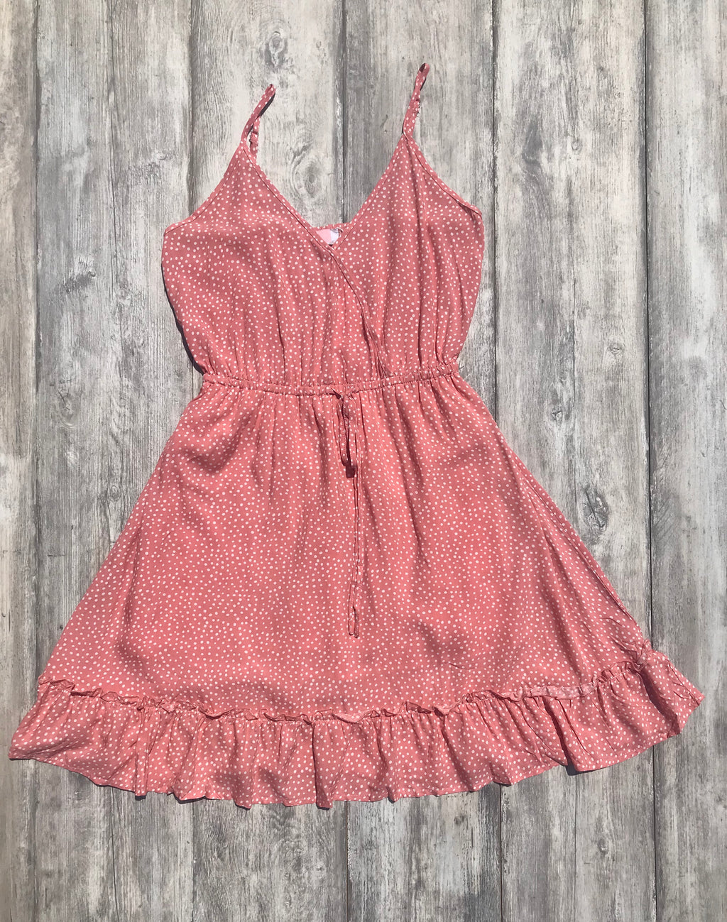 Polka Dot V-Neck Slip Mini Dress