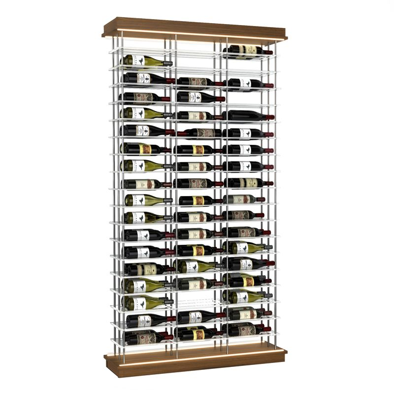 108-Bottle Elevation Wine Rack, Label Forward, Modern Wine Storage, Kessick