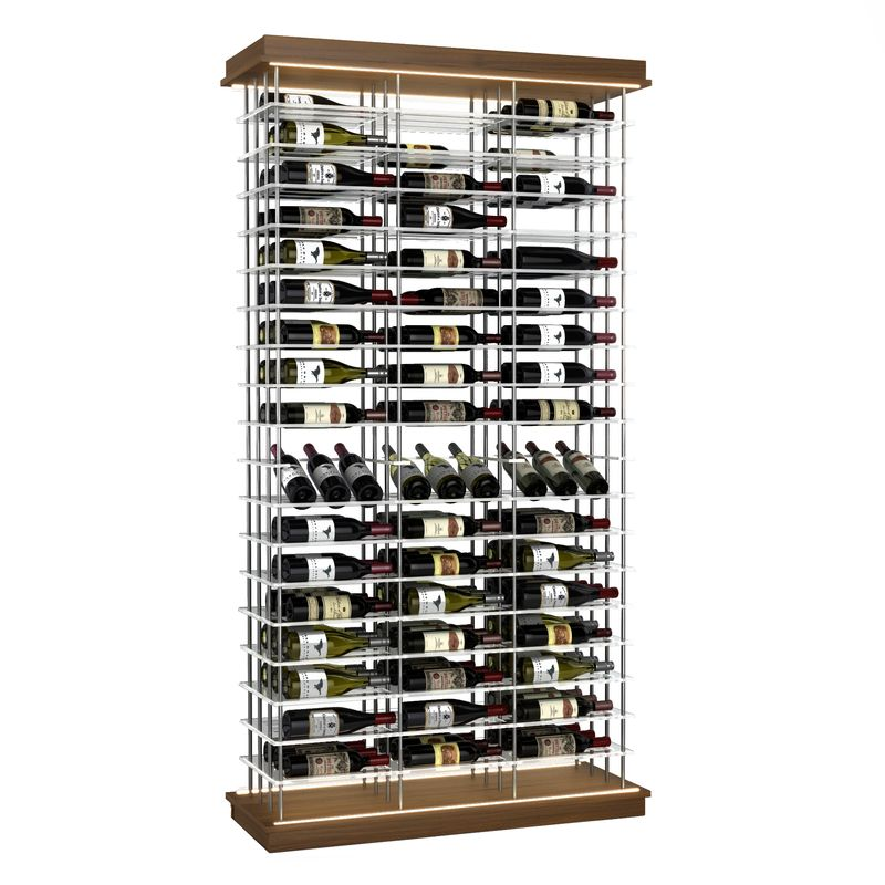 153-Bottle Elevation Wine Rack with Angled Display, Label Forward, Modern Wine Storage, Kessick