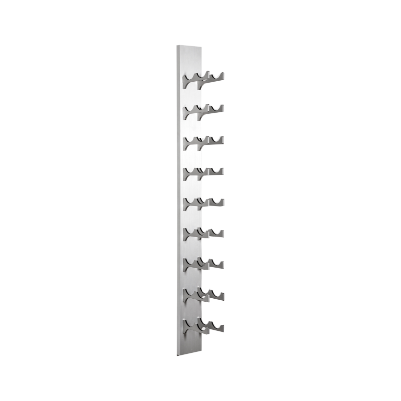 18-Bottle Classic Series Wine Rack, 4ft. - silver, Liquid Systems, Metal Wine Racks, Label Forward, Modern Wine Racks