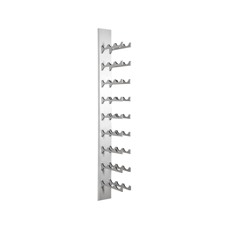 27-Bottle Classic Series Wine Rack, 4ft. - silver, Liquid Systems, Metal Wine Racks, Label Forward, Modern Wine Racks