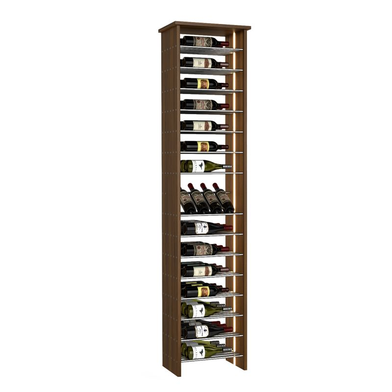 46-Bottle Parallel Wine Rack with Angled Display, One-Column, Modern Wine Rack, Parallel Wine Rack, Kessick