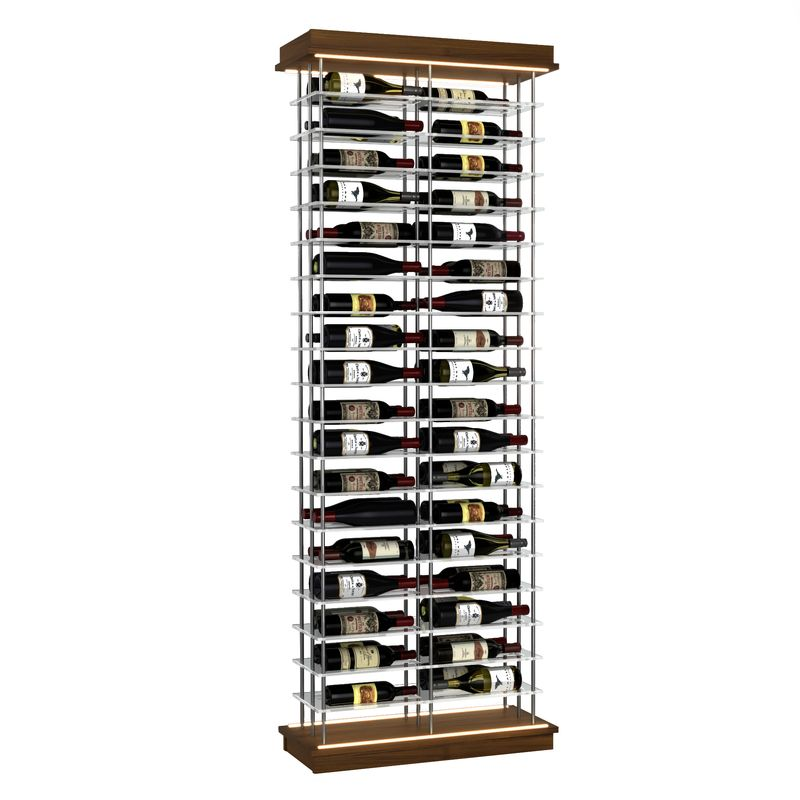72-Bottle Elevation Wine Rack, Label Forward, Modern Wine Storage, Kessick