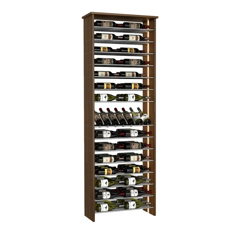 90-Bottle Parallel Wine Rack with Angled Display, Two-Column, Modern Wine Rack, Parallel Wine Rack, Kessick