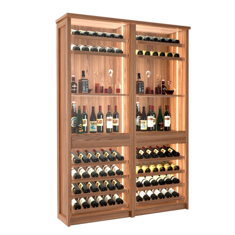 Loire Wine Bar, 72 Bottles, Modern Wine Rack, Wood Wine Rack, Kessick