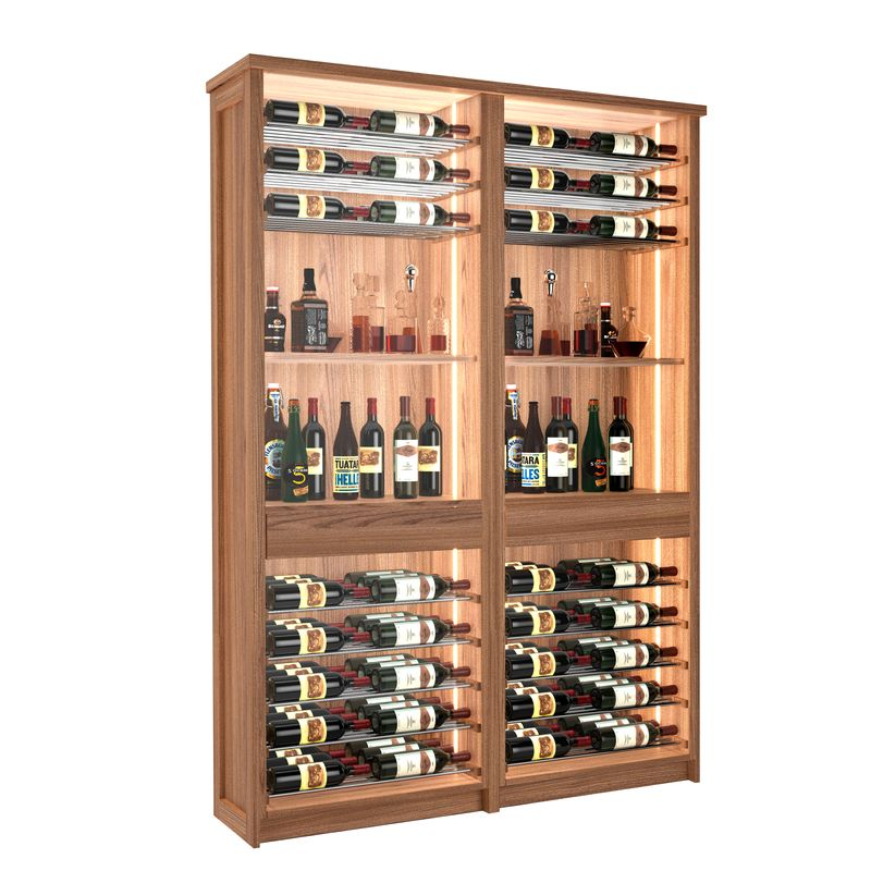 Sonoma Wine Bar, 96 Bottles, Modern Wine Rack, Wood Wine Rack, Kessick
