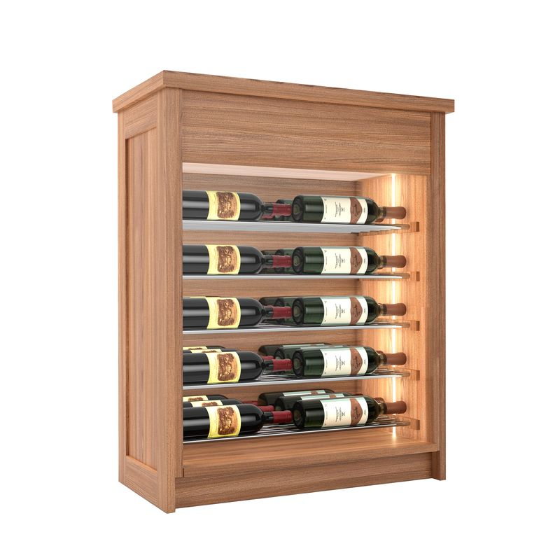 Sonoma Wine Chest, 30 Bottles, Modern Wine Rack, Wood Wine Rack, Kessick