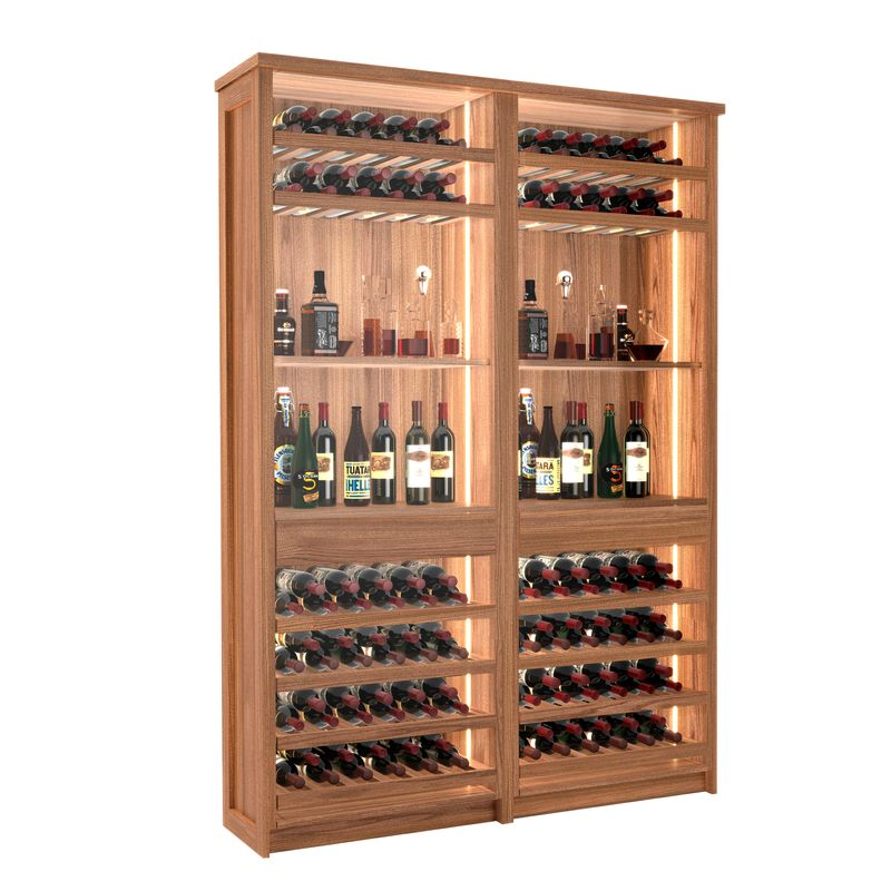 Tuscany Wine Bar, 132 Bottles, Modern Wine Rack, Wood Wine Rack, Kessick