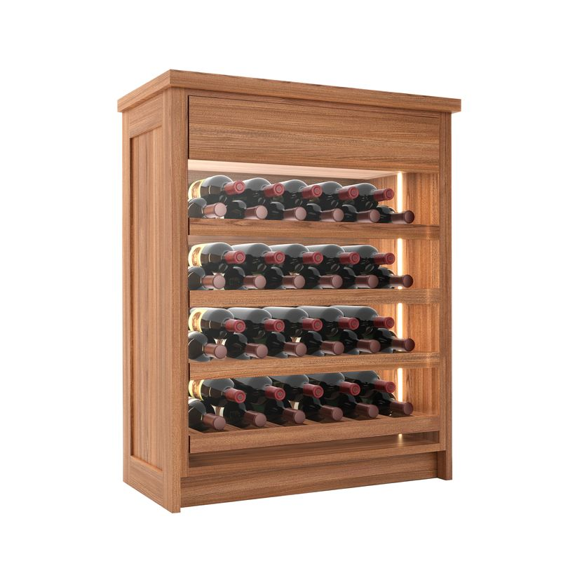 Tuscany Wine Chest, 44 Bottles, Modern Wine Rack, Wood Wine Rack, Kessick