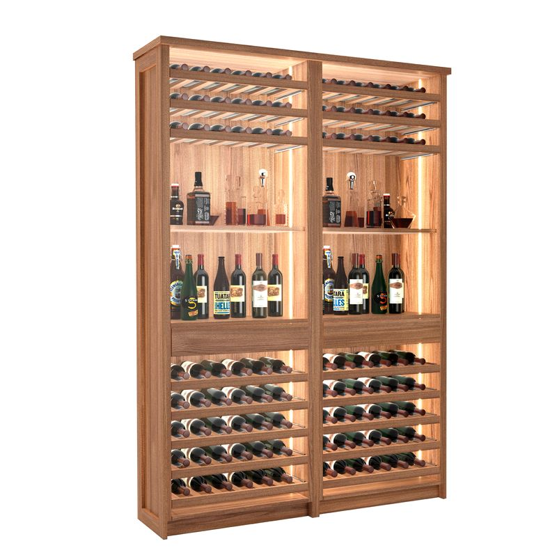 Veneto Wine Bar, 96 Bottles, Modern Wine Rack, Wood Wine Rack, Kessick