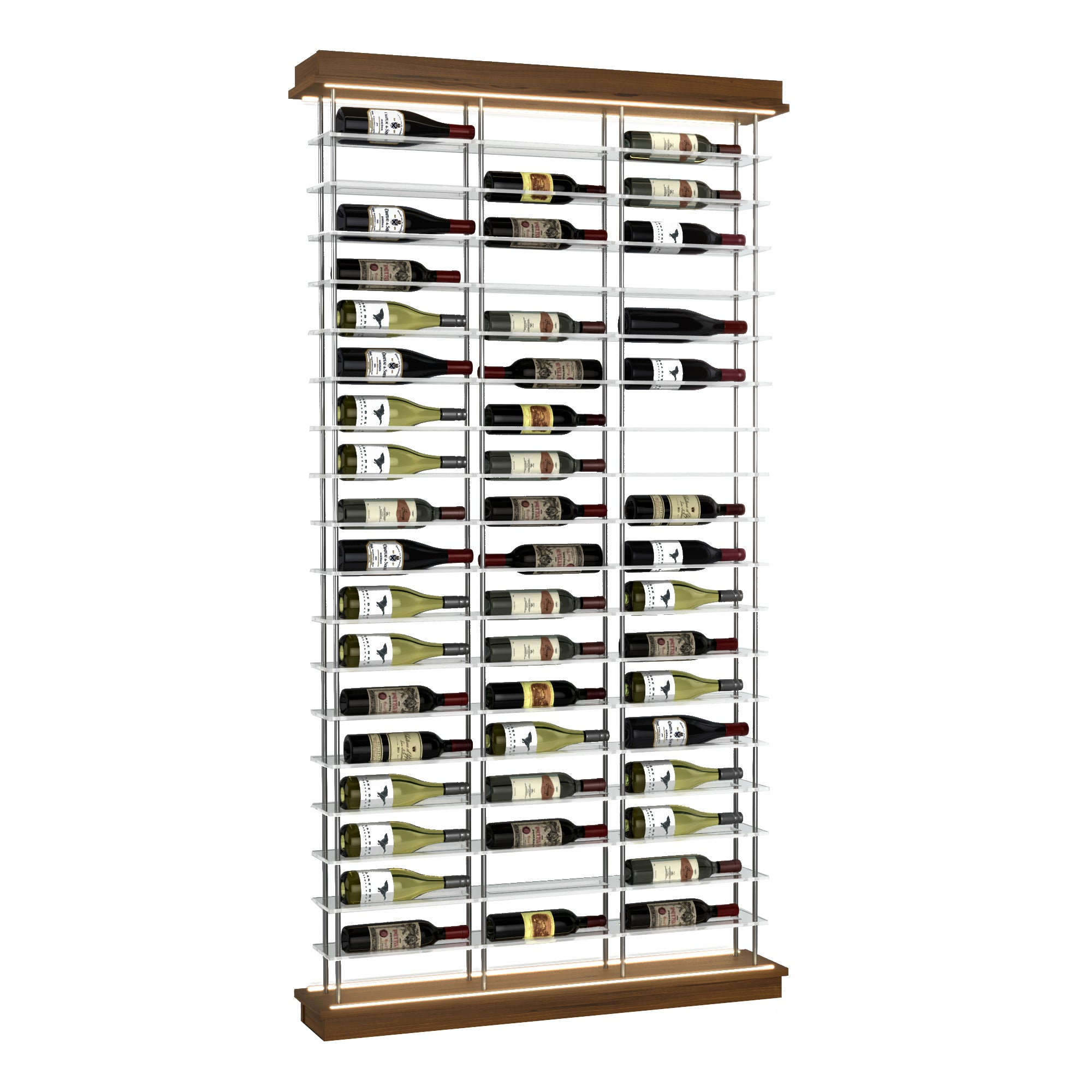 54-Bottle Elevation Wine Rack, Label Forward, Modern Wine Storage, Kessick
