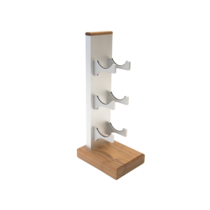 3-Bottle Mini Series Wine Rack - silver, Liquid Systems, Metal Wine Racks, Label Forward, Modern Wine Racks