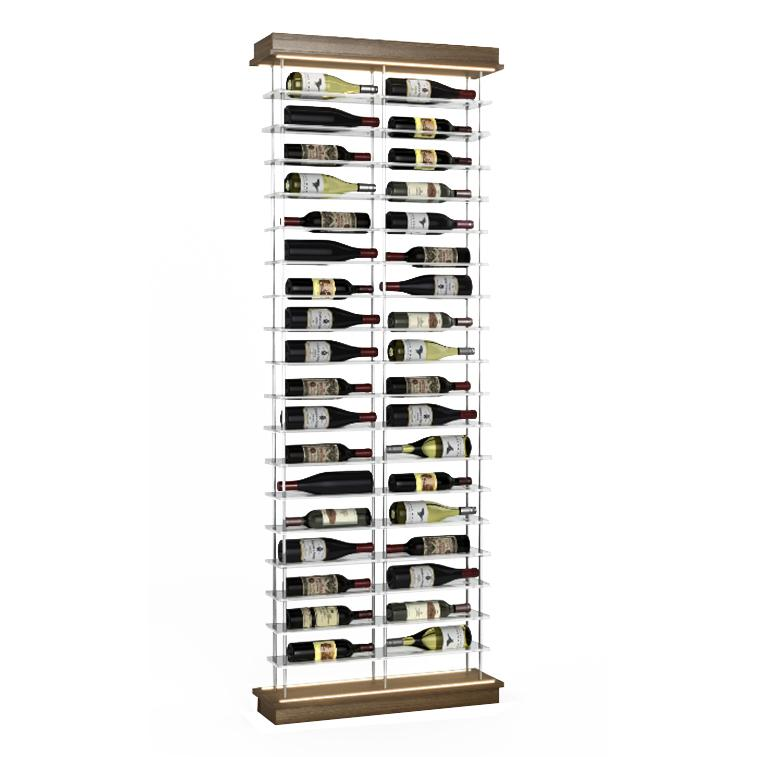 36-Bottle Elevation Wine Rack, Label Forward, Modern Wine Storage, Kessick