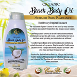 Organic Beach Body Oil 2-pack