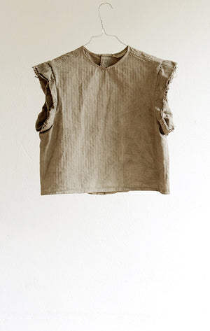 TOP#07_NATURALLY DYED TOP WITH PRESS STUDS
