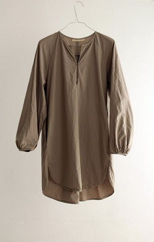 TOP#12_GREY–BROWN COTTON TUNIC