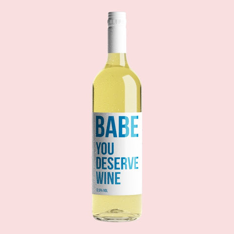 YOU DESERVE WINE - WHITE