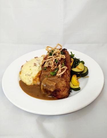 Franklins Meatloaf w/ Stout Gravy