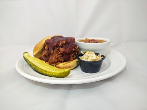 Pulled Pork w/ either Carolina style or House BBQ sauce