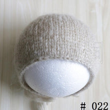 Load image into Gallery viewer, Handcraft Baby hand Knit Mohair Bonnet ,Baby Photography Props. Photography prop.on Baby Shower Gift