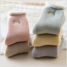 Load image into Gallery viewer, 5Pairs  embroidered women warm socks winter snow