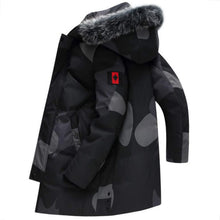 Load image into Gallery viewer, Fashion Men Coat Winter Fox Fur Collar Warm Basic Canada Jacket