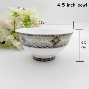 Plates Set Steak Dish Salad Bowl Bone China