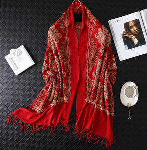 female foulard blanket Tassel