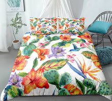 Load image into Gallery viewer, Cactus Bedding set Green plant Duvet cover set Flower Bed