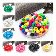 Load image into Gallery viewer, 100pcs DIY Bracelet Accessories Children Gift Handcraft Department 15 Color 6MM Round Shape Acrylic Sugar Beads Jewelry Findings