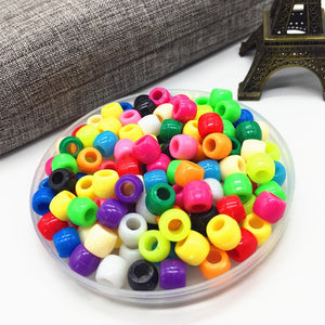 100pcs DIY Bracelet Accessories Children Gift Handcraft Department 15 Color 6MM Round Shape Acrylic Sugar Beads Jewelry Findings