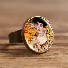 Load image into Gallery viewer, Fashion The Kiss Klimt Starry Night Dome Glass Art Picture